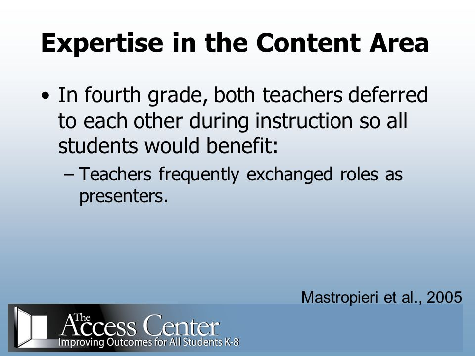 Expertise in the Content Area