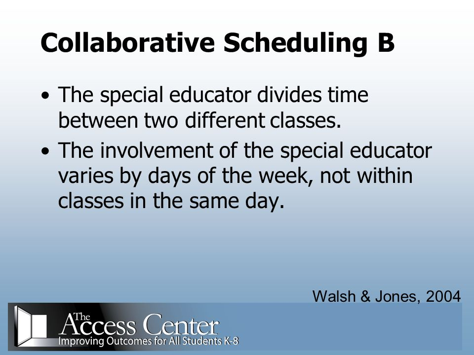 Collaborative Scheduling B