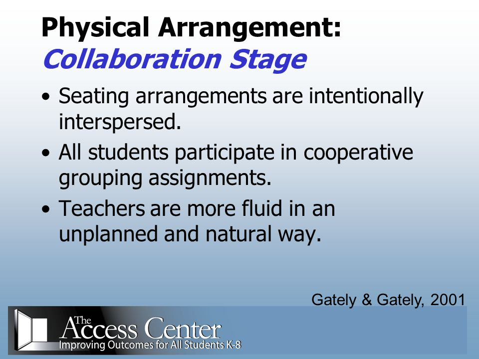 Physical Arrangement: Collaboration Stage
