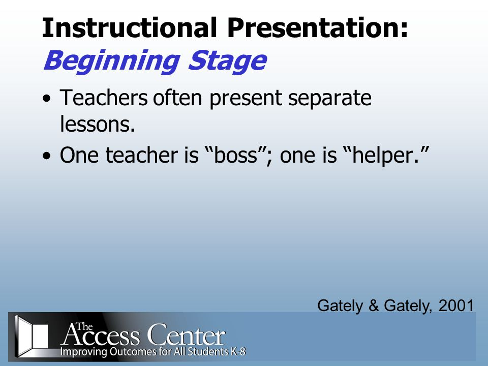 Instructional Presentation: Beginning Stage