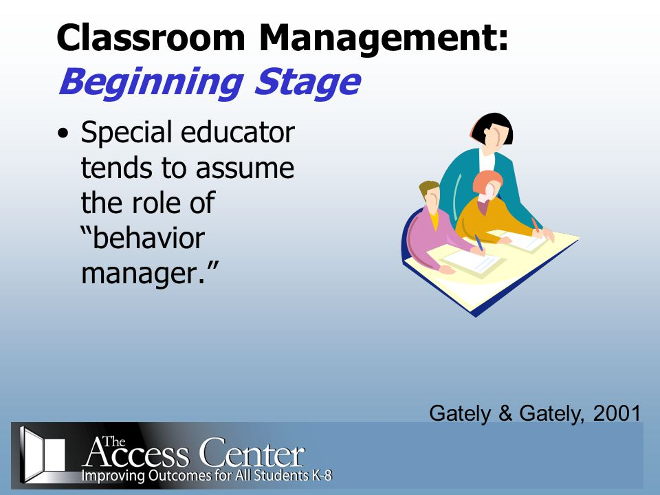 Classroom Management: Beginning Stage
