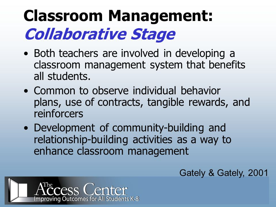 Classroom Management: Collaborative Stage