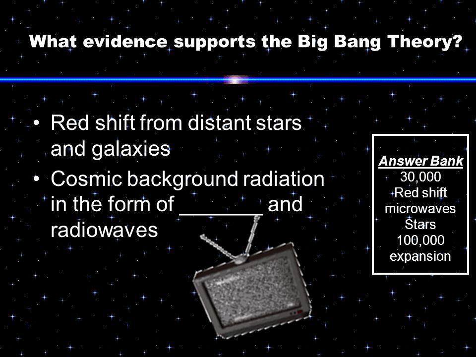 What evidence supports the Big Bang Theory