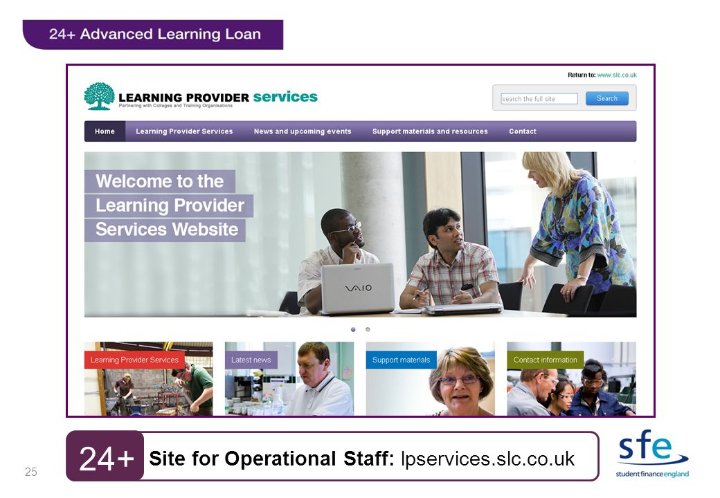 24+ Site for Operational Staff: lpservices.slc.co.uk