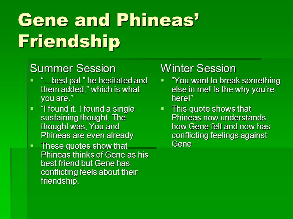 Summer Vs Winter Sessions Of A Separate Peace Ppt Video Online