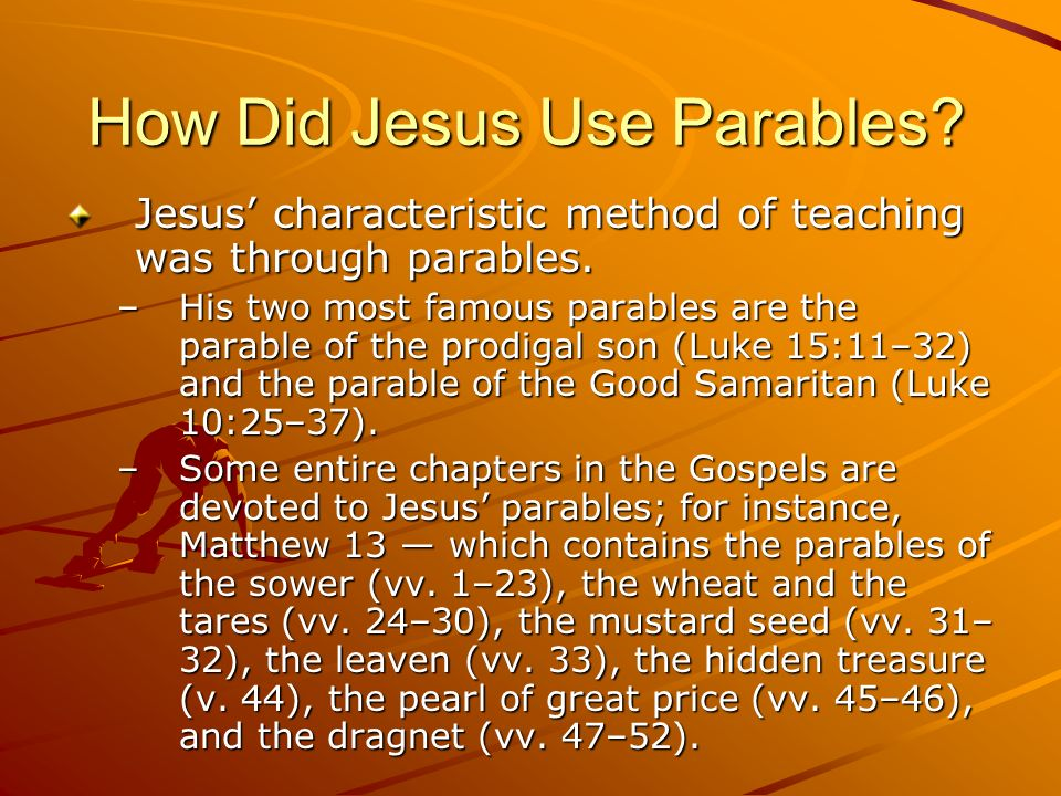 why do you speak in parables
