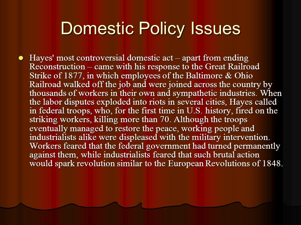 Domestic Policy Issues