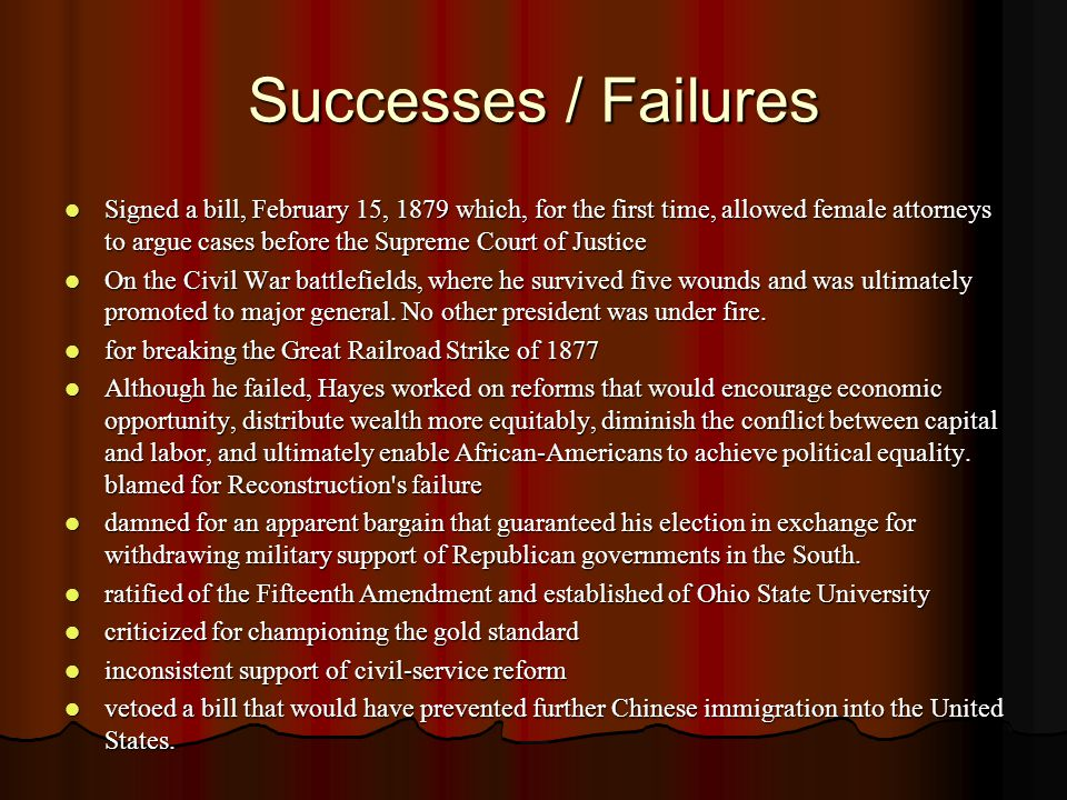 Successes / Failures