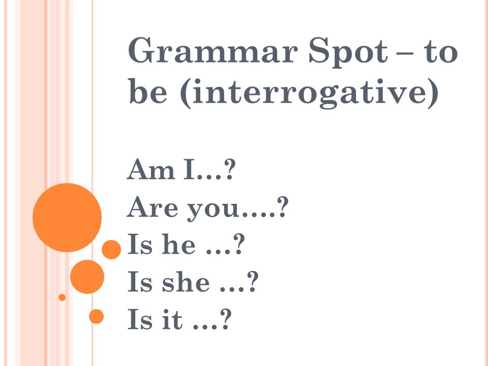 Grammar Spot – to be (interrogative)