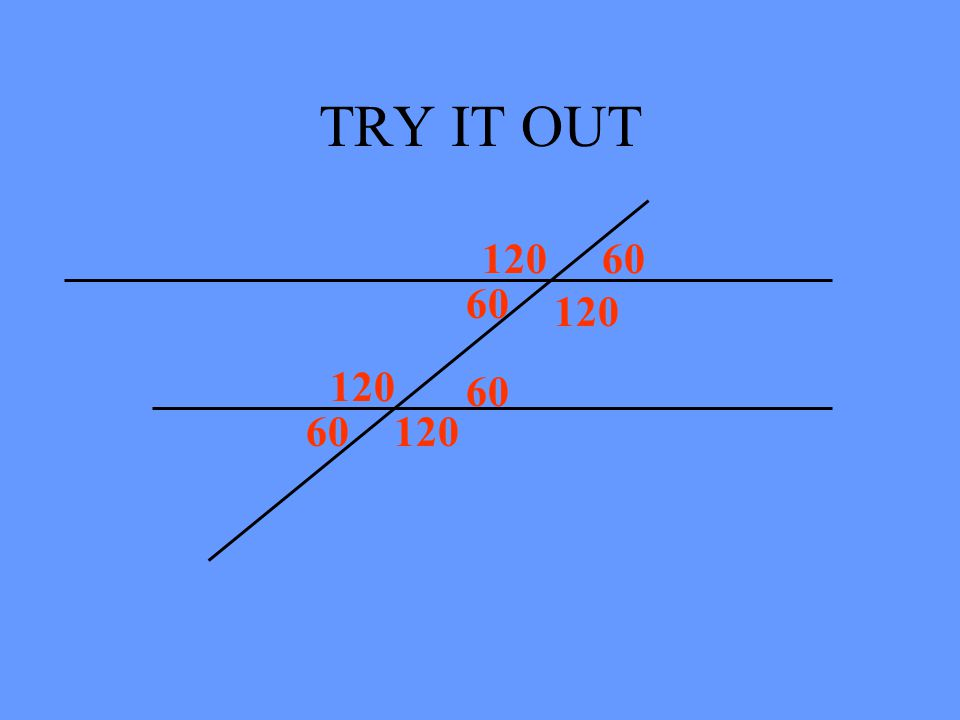TRY IT OUT 120 60 60 120 120 60 60 120