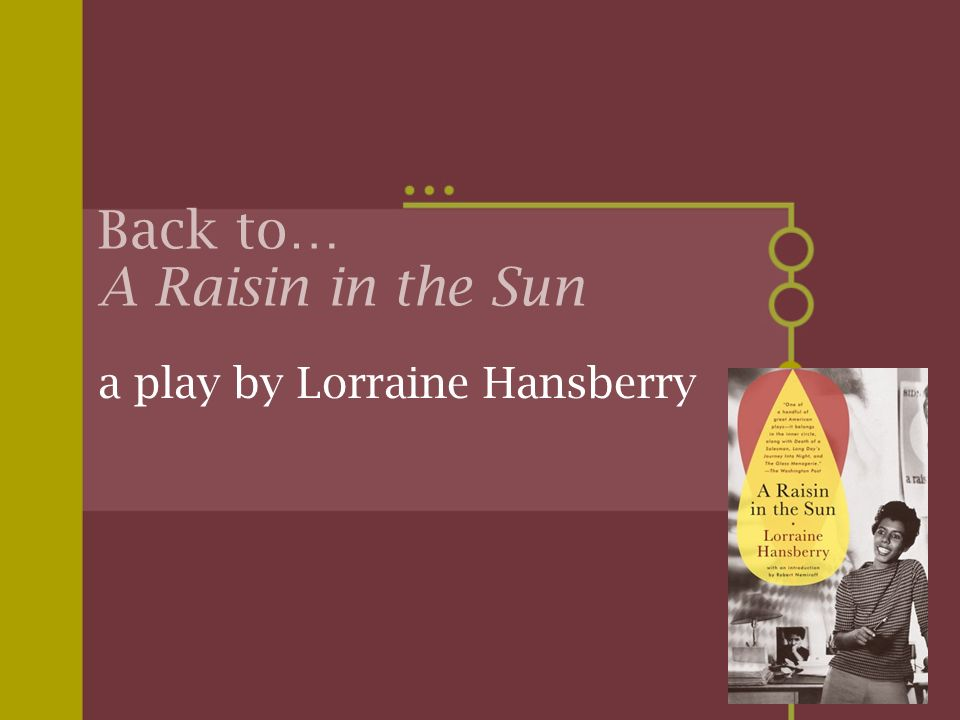 Back to… A Raisin in the Sun