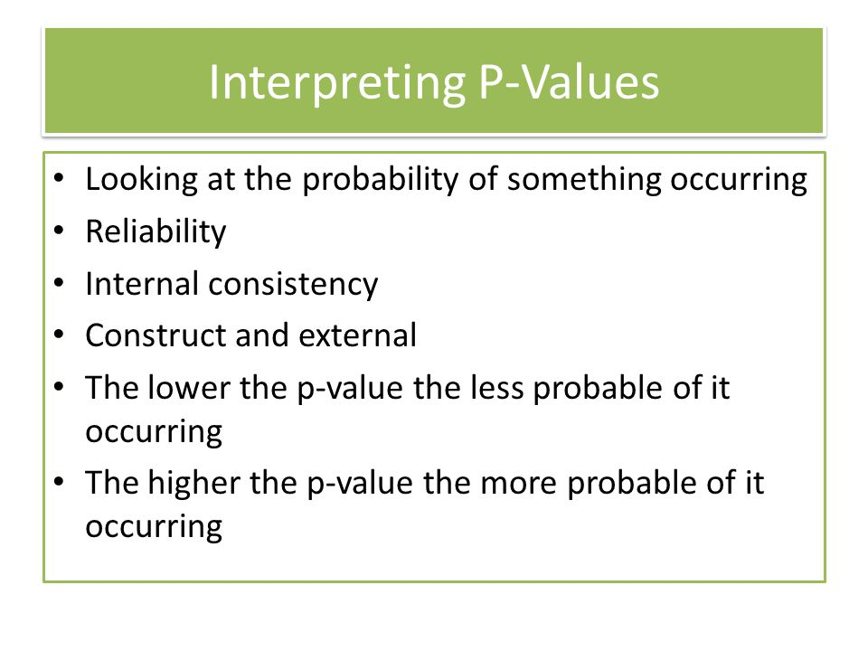 Interpreting P-Values