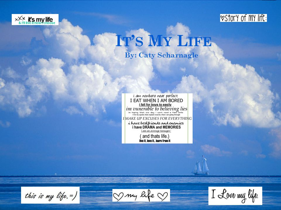 It's My Life By: Caty Scharnagle