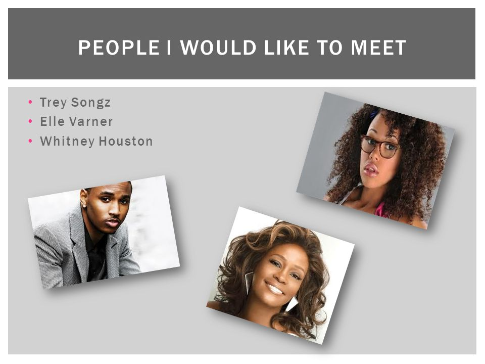 People I would like to meet