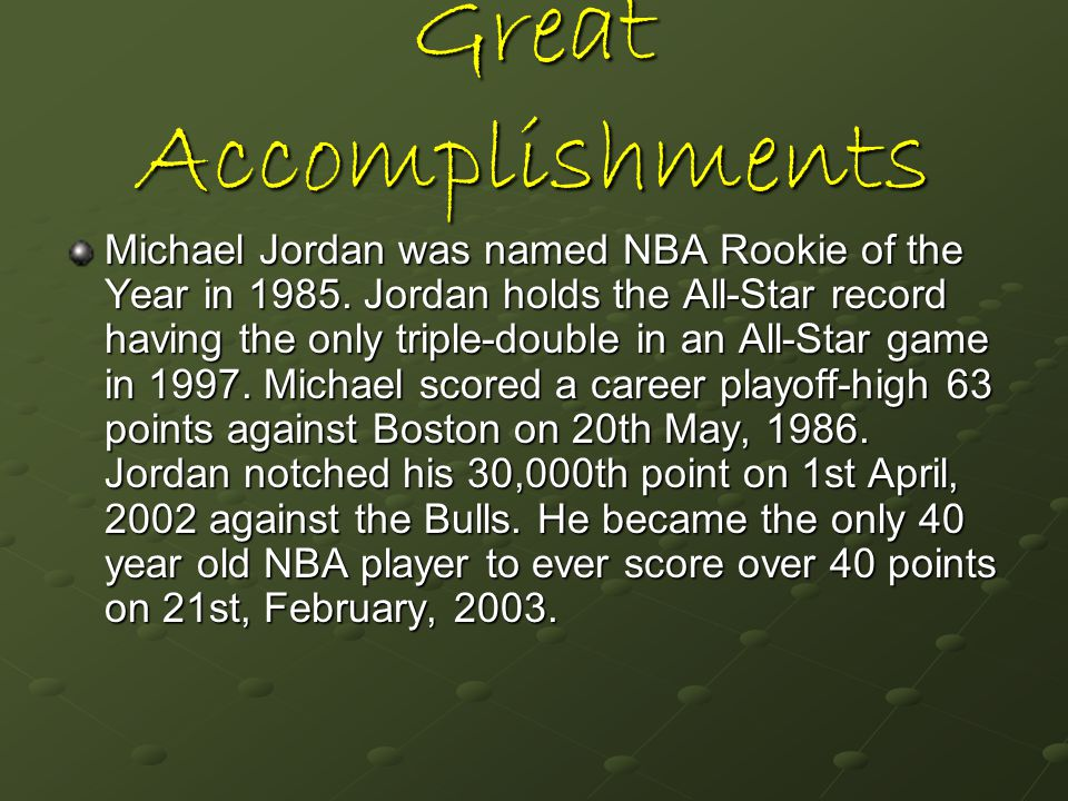 Great Accomplishments