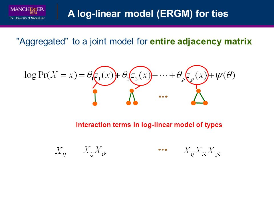 Interaction terms in log-linear model of types
