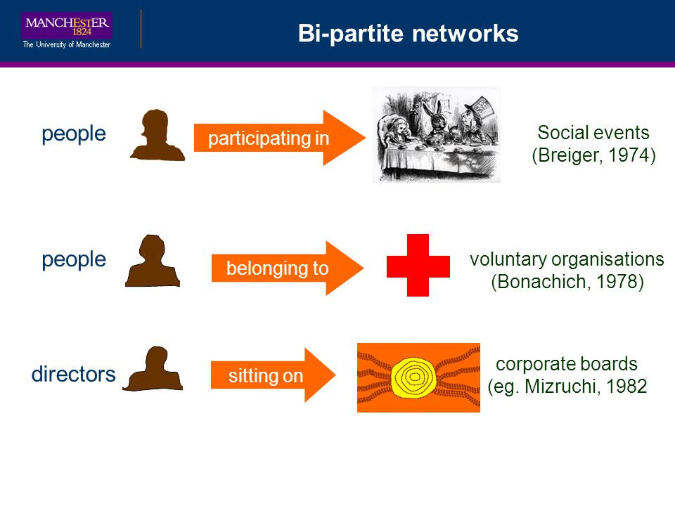 Bi-partite networks people people directors participating in