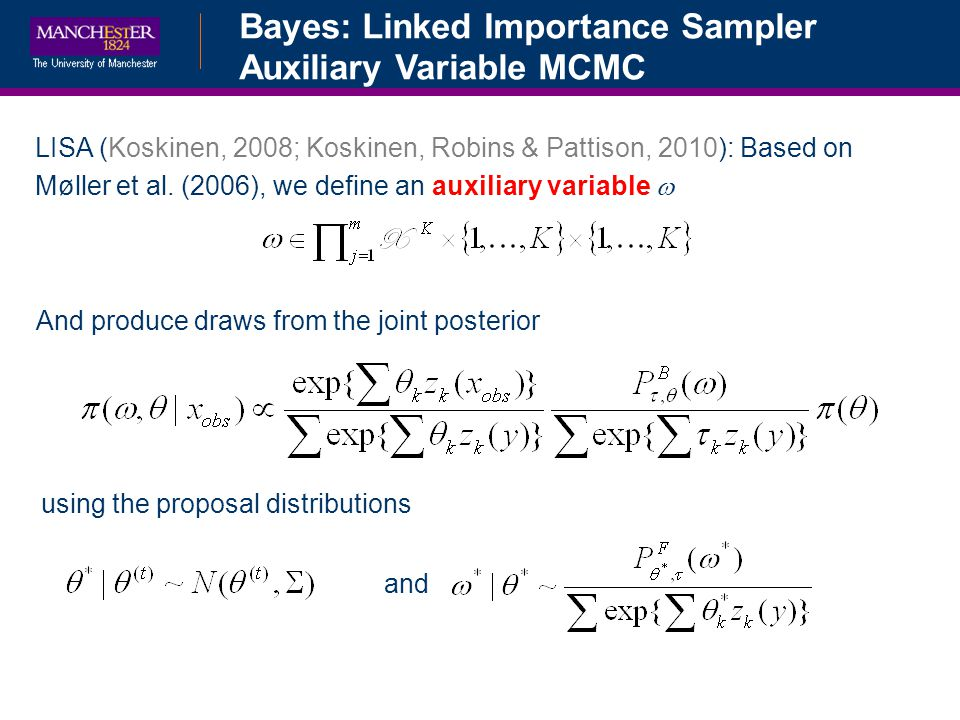 Bayes: Linked Importance Sampler Auxiliary Variable MCMC