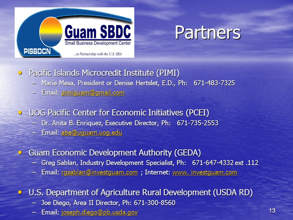 Partners Pacific Islands Microcredit Institute (PIMI)