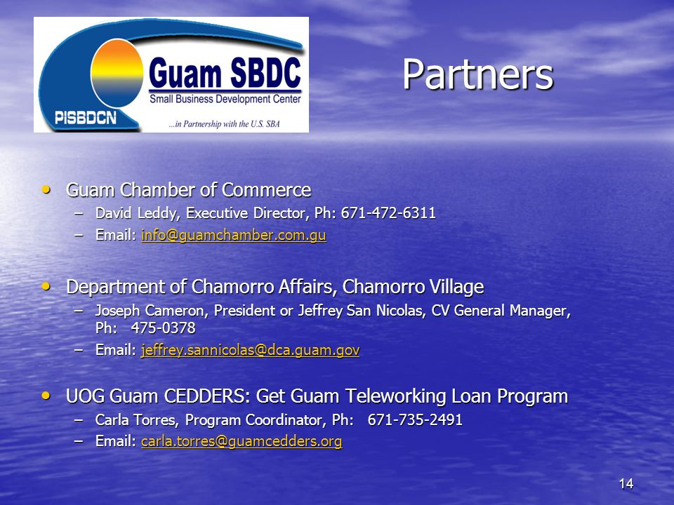 Partners Guam Chamber of Commerce