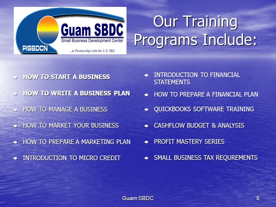 Our Training Programs Include:
