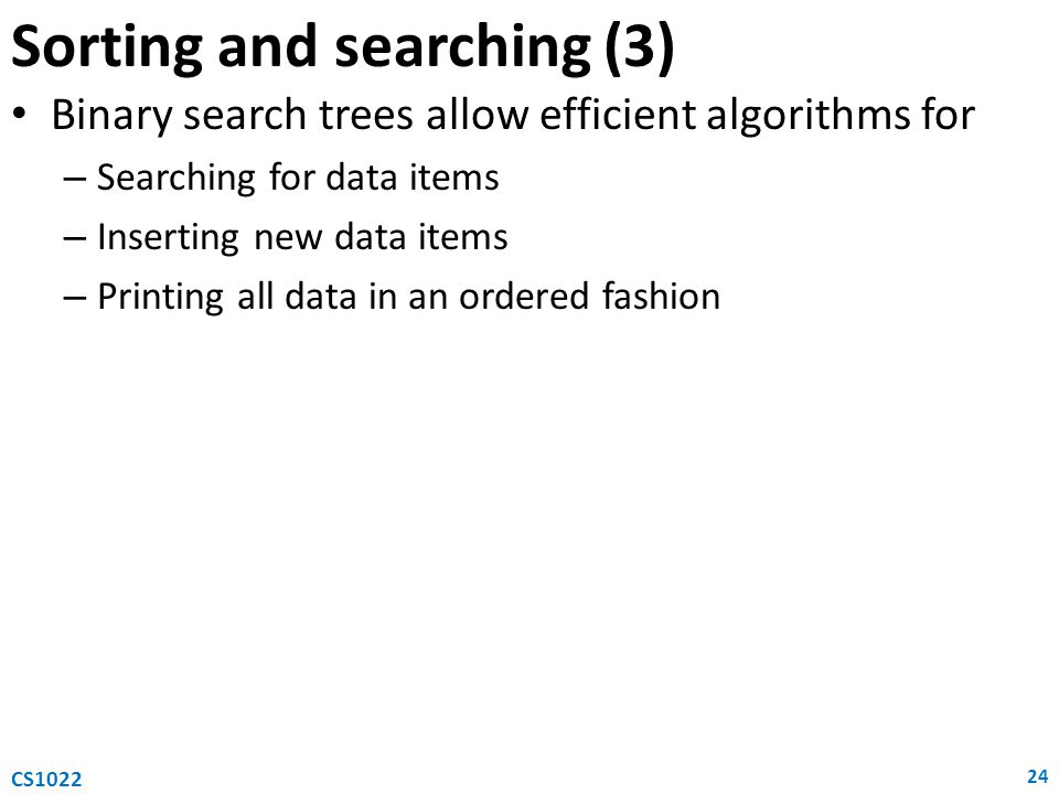 Sorting and searching (3)