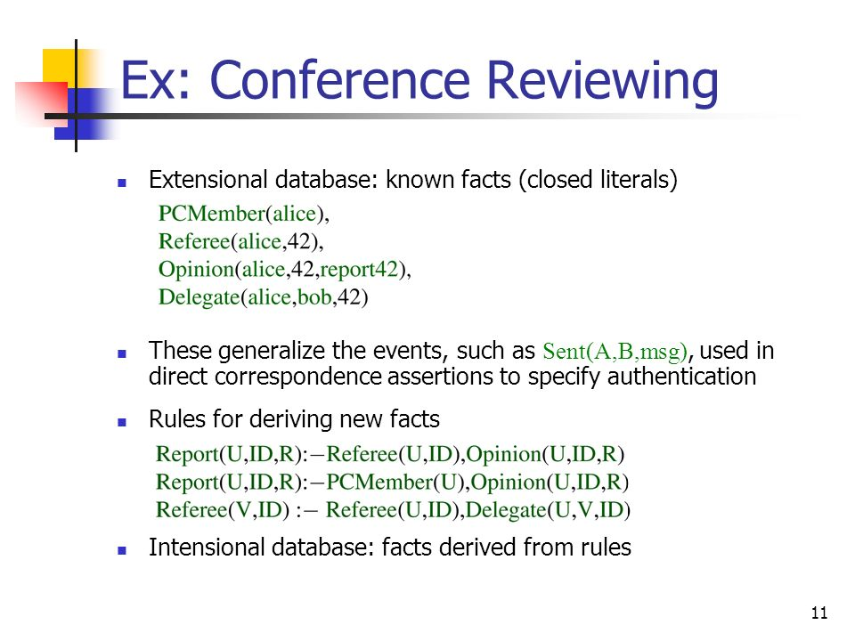 Ex: Conference Reviewing