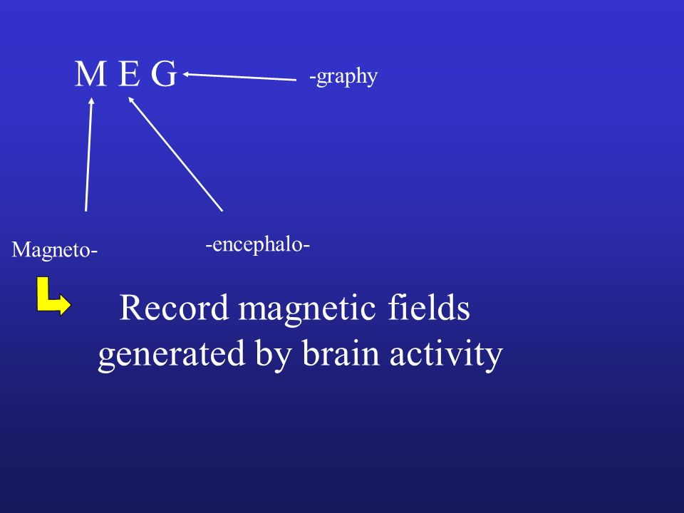 Record magnetic fields generated by brain activity