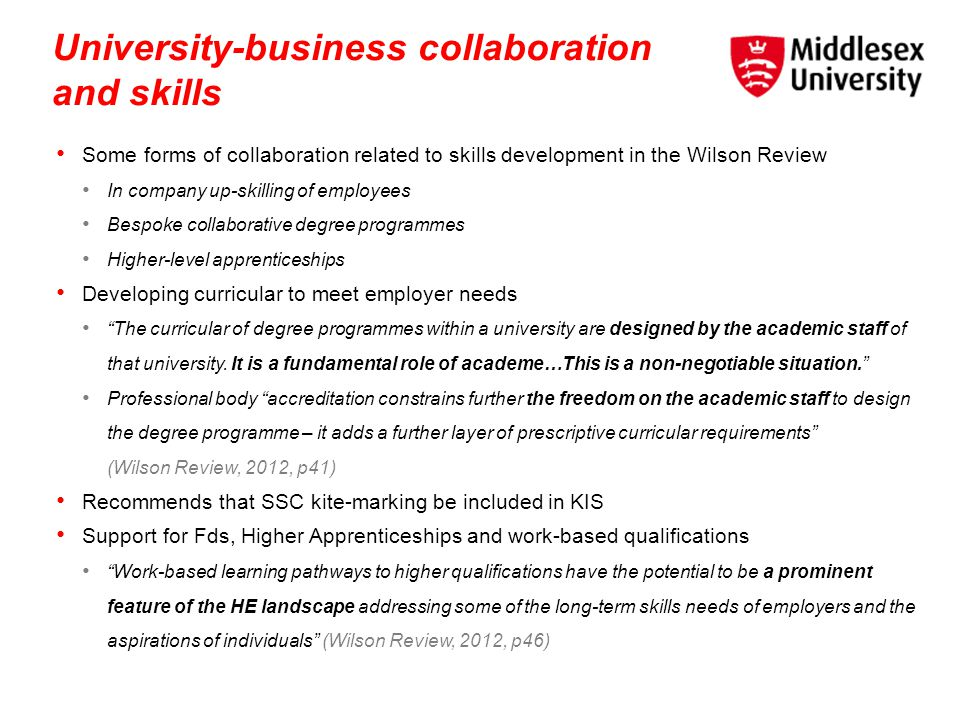 University-business collaboration and skills