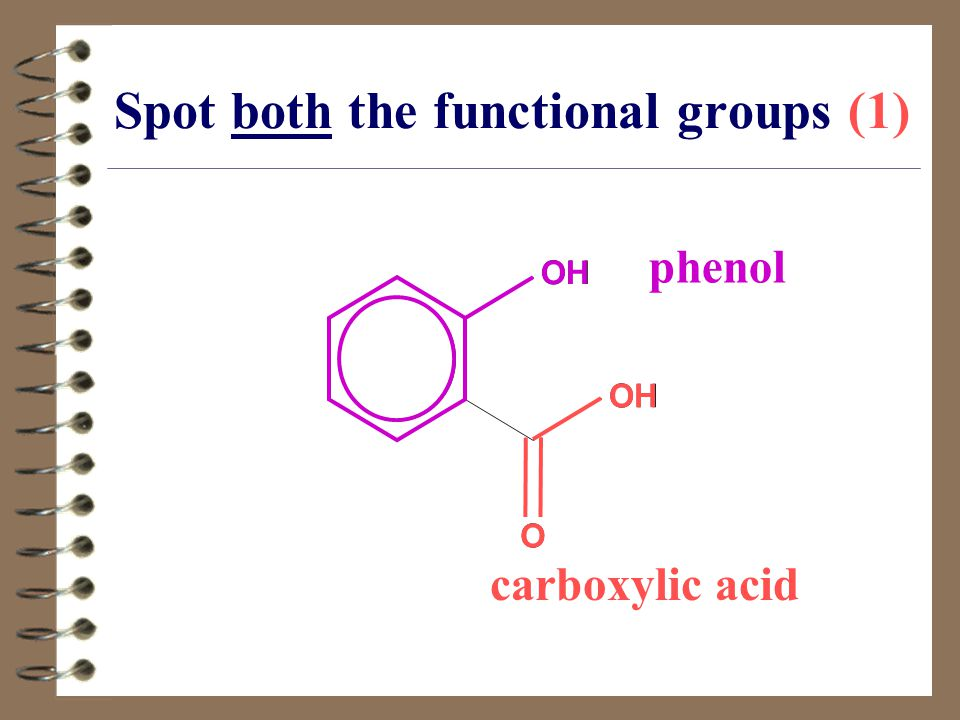 Spot both the functional groups (1)