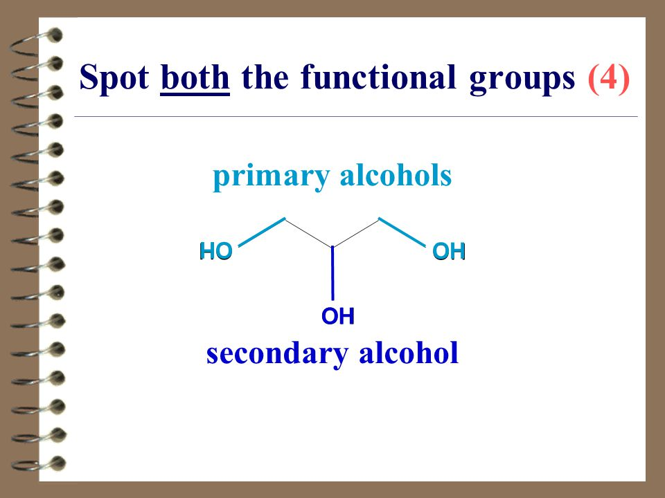 Spot both the functional groups (4)