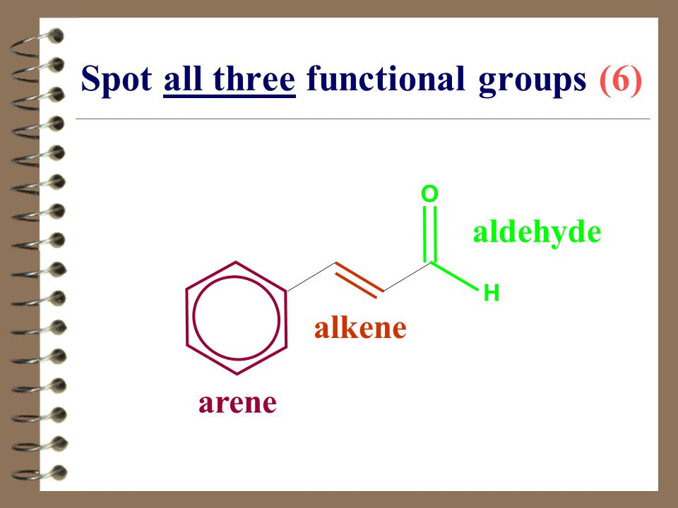 Spot all three functional groups (6)
