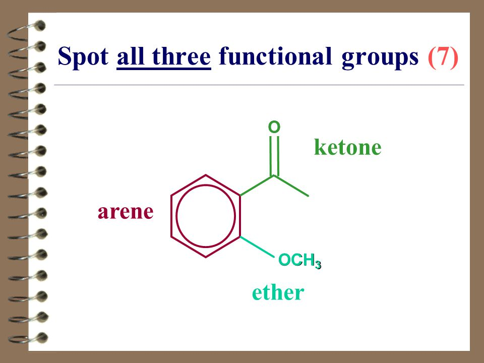 Spot all three functional groups (7)