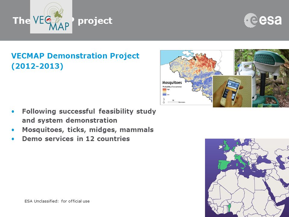 The VECMAP project VECMAP Demonstration Project (2012-2013)
