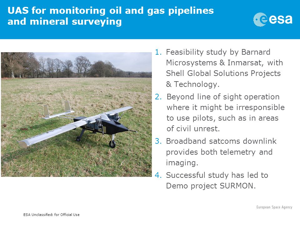 UAS for monitoring oil and gas pipelines and mineral surveying