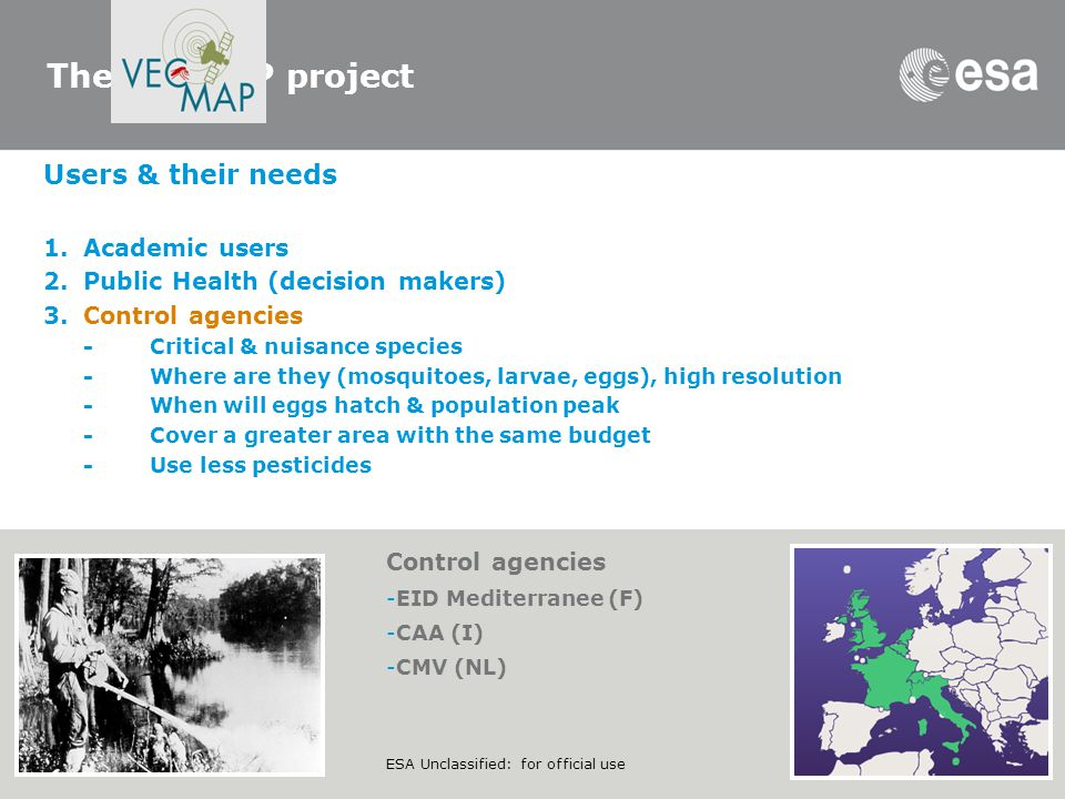 The VECMAP project Users & their needs Academic users