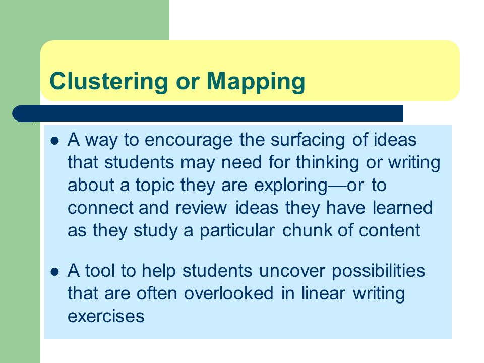 Clustering or Mapping