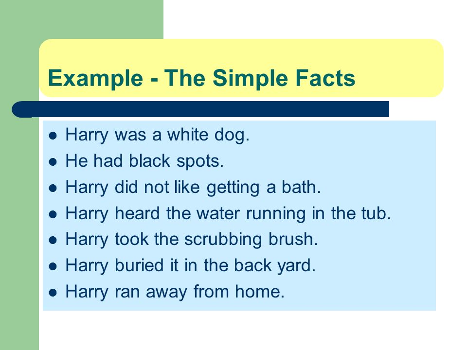 Example - The Simple Facts