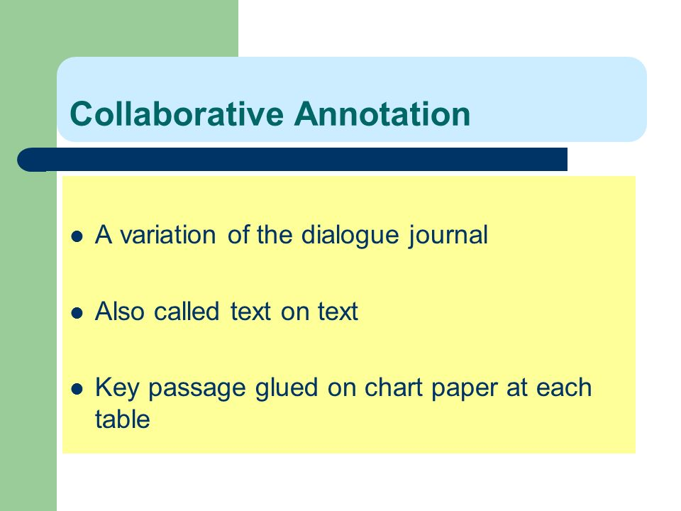 Collaborative Annotation