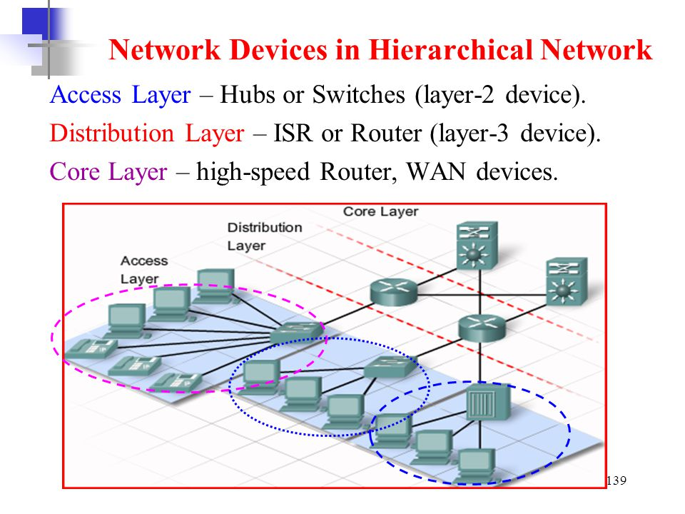 Network Devices in Hierarchical Network