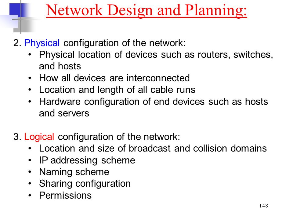 Network Design and Planning: