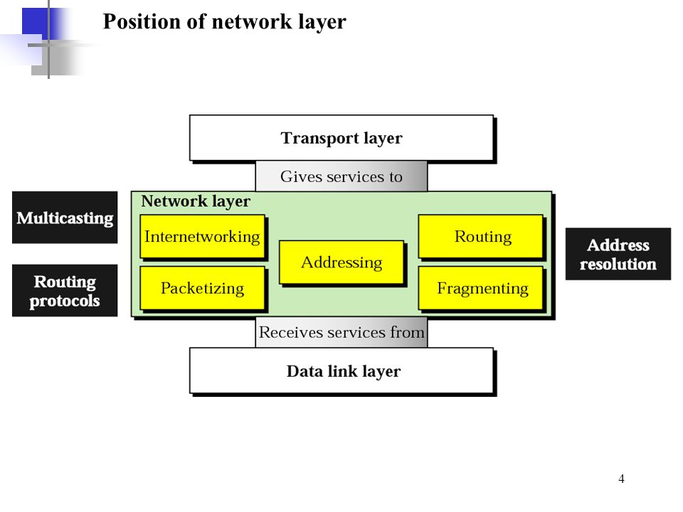 Position of network layer