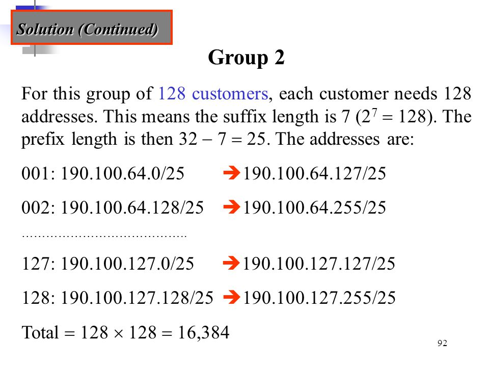 Solution (Continued) Group 2.