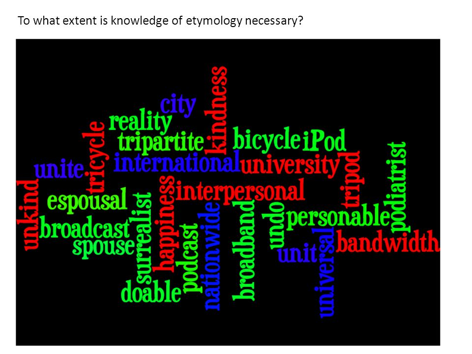 To what extent is knowledge of etymology necessary