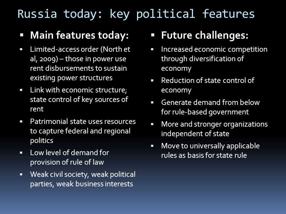 Russia today: key political features
