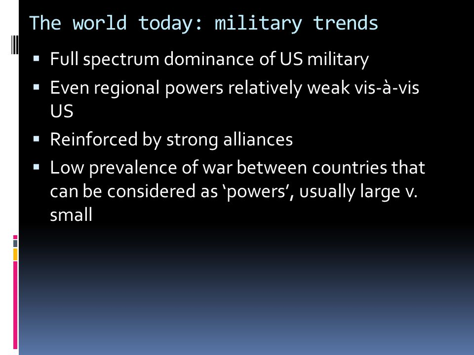 The world today: military trends