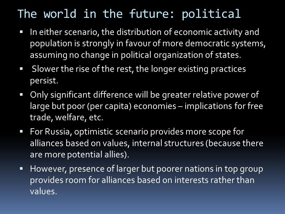 The world in the future: political