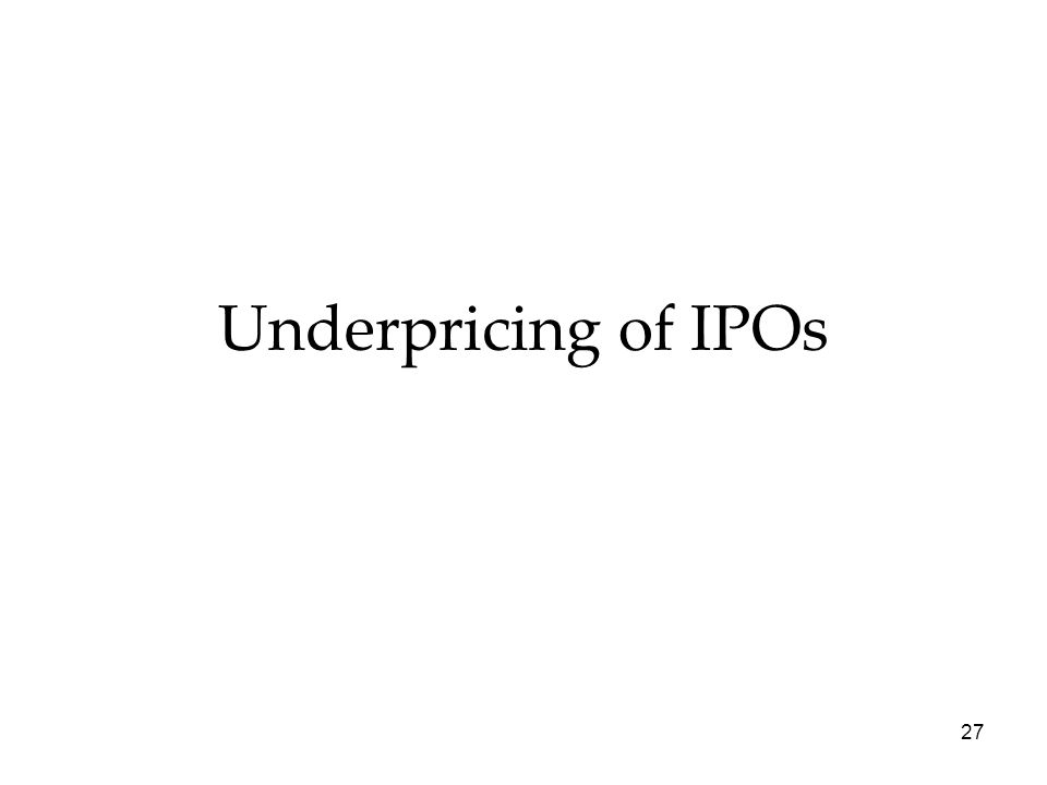 Underpricing of IPOs