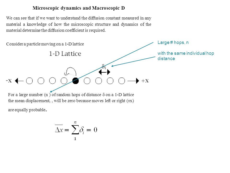 Microscopic dynamics and Macroscopic D