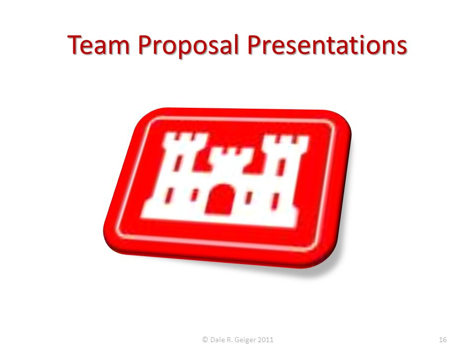 Team Proposal Presentations